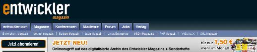 Entwickler in Lesestoff: Printmagazine
